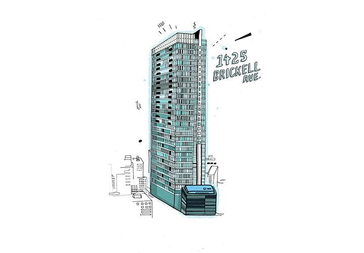 1425 Brickell Ave., Miami - El piso 65 del Four Seasons Residences Miami es el más alto en la ciudad.