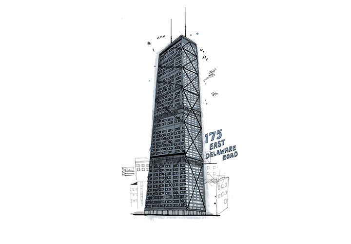 175 East Delaware Rd., Chicago - The John Hancock Center in downtown Chicago isn't the tallest condo