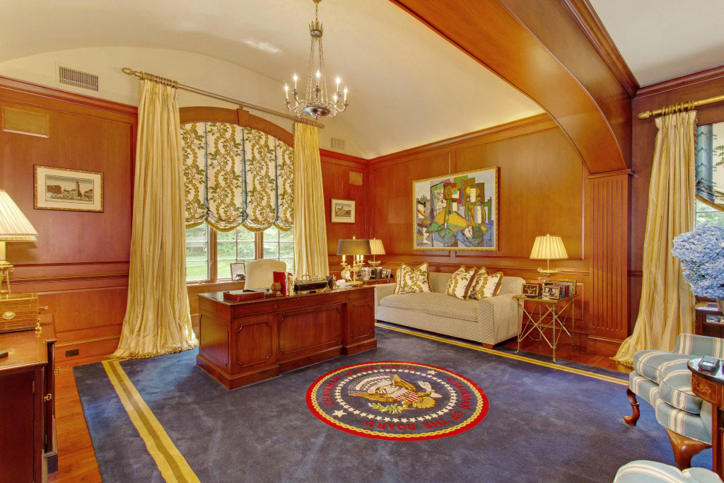 An office at Fieldstone Manor styled to resemble the Oval Office.