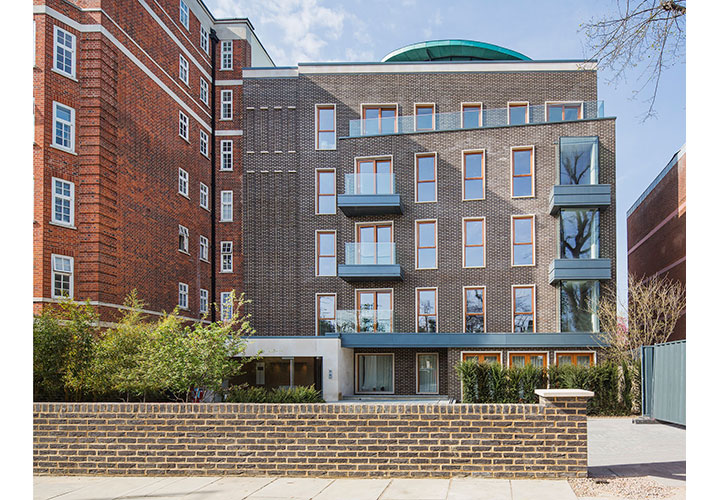 The exterior of the new Grove End development in St. John's Wood.