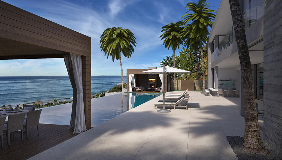 The exterior of a Marisol Malibu development.