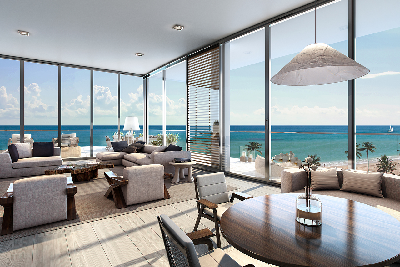 living group london miami  will be smart phone pre wired for high speed internet access and wi fi technology above a living area rendering the related group