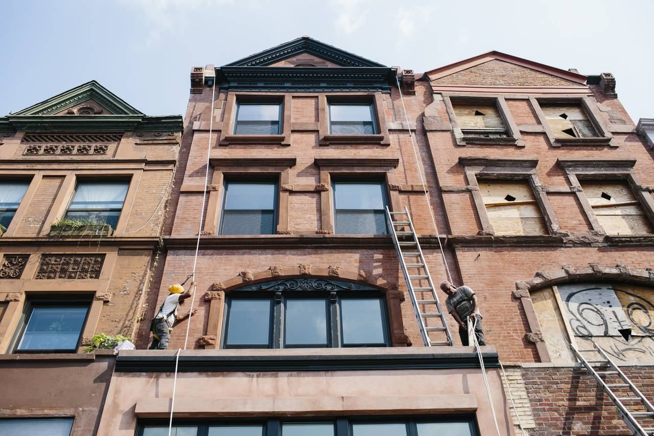 The building on Lenox Avenue in Harlem where Graham Patterson will live.