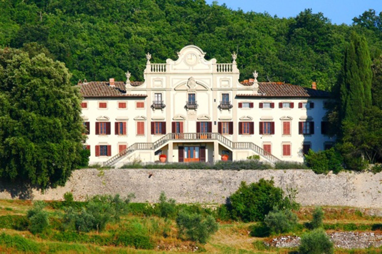 This villa in Tuscany comes with land including vineyards, olive groves and woodland.