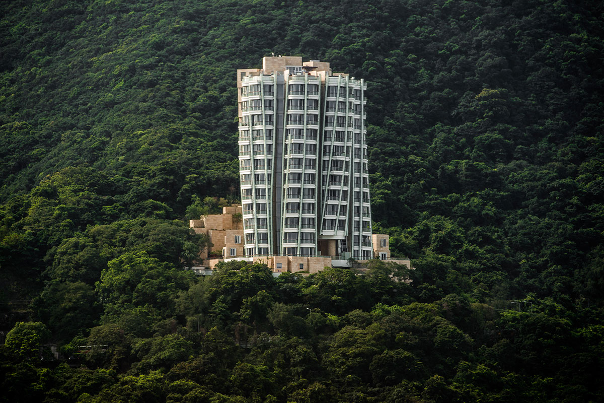 Opus Hong Kong pictured in 2012, the year it was completed.