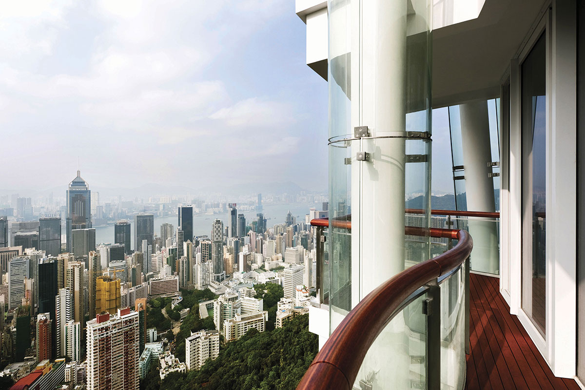 Units have a view of the city's famed Victoria Harbour.
