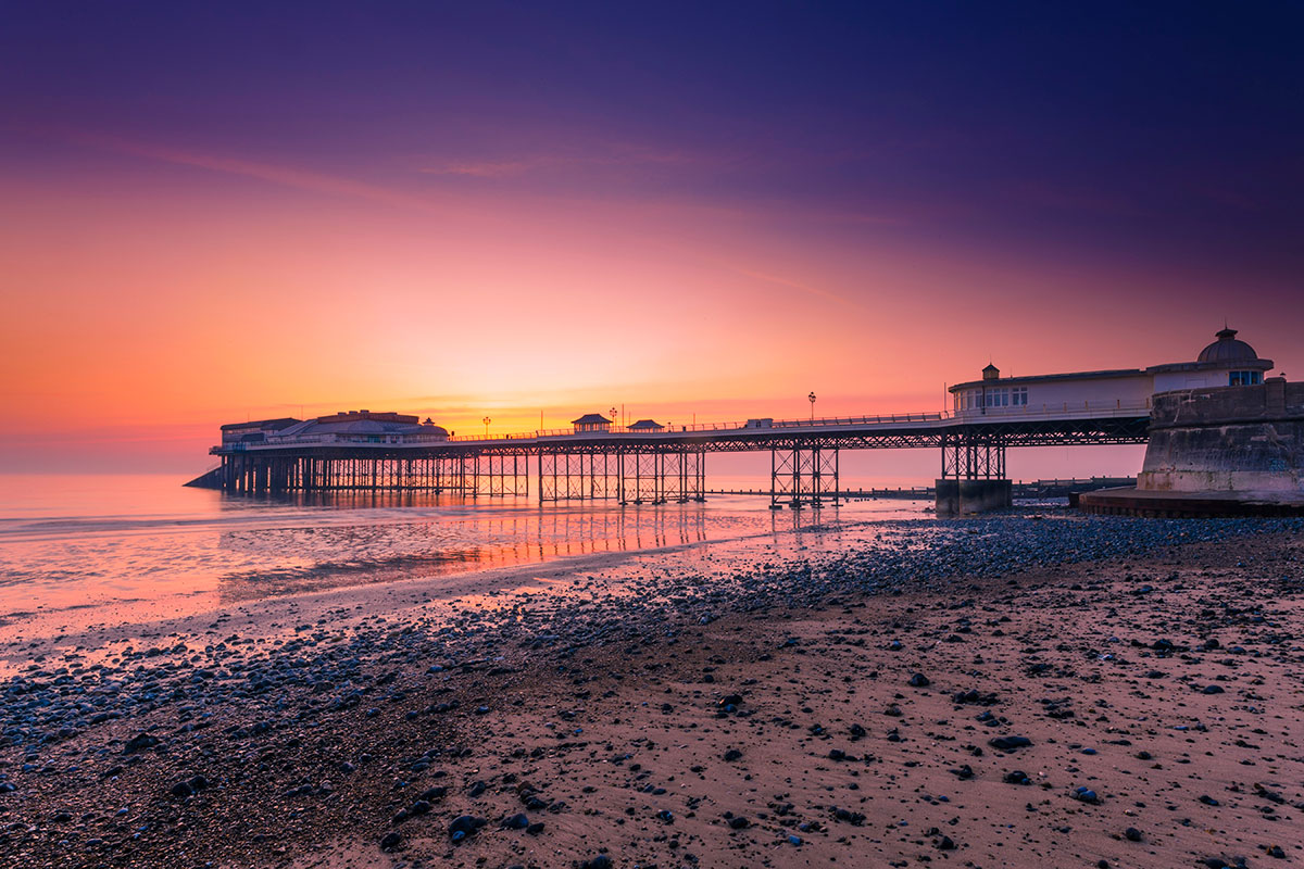 Cromer pier at sunrise.