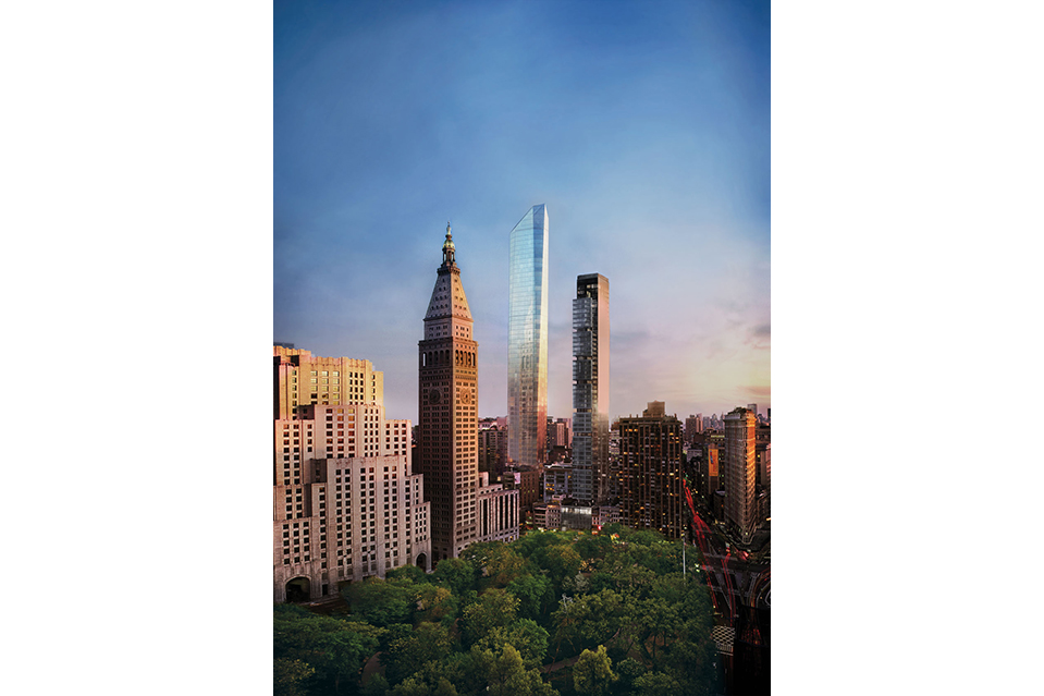 The glass tower will be 777-feet tall when finished.