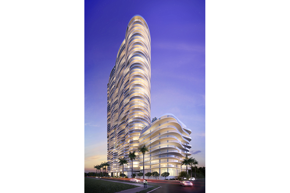 The 53-story Aria by the Bay is located in the heart of the Arts & Entertainment district in down