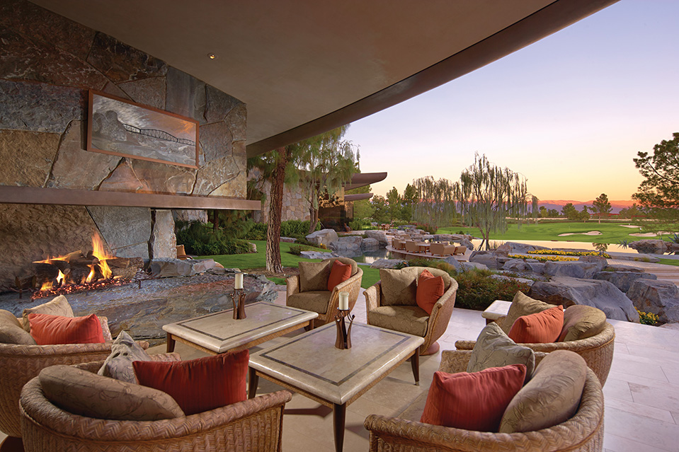 The estate was designed for outdoor entertaining.