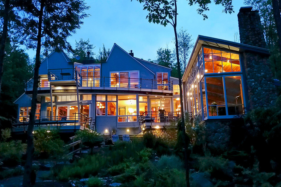 listing of the day a lakefront dwelling with a two story