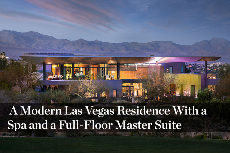 a las vegas home with three elevators and views of the