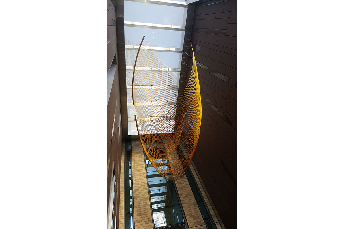 """Artist Rachel Mica Weiss' """"Inverted Arches of Gold"""" at The Ashland in Fort Greene."""