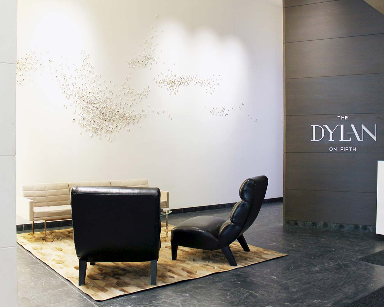 Artist Christina Watka's lobby installation at The Dylan on Fifth