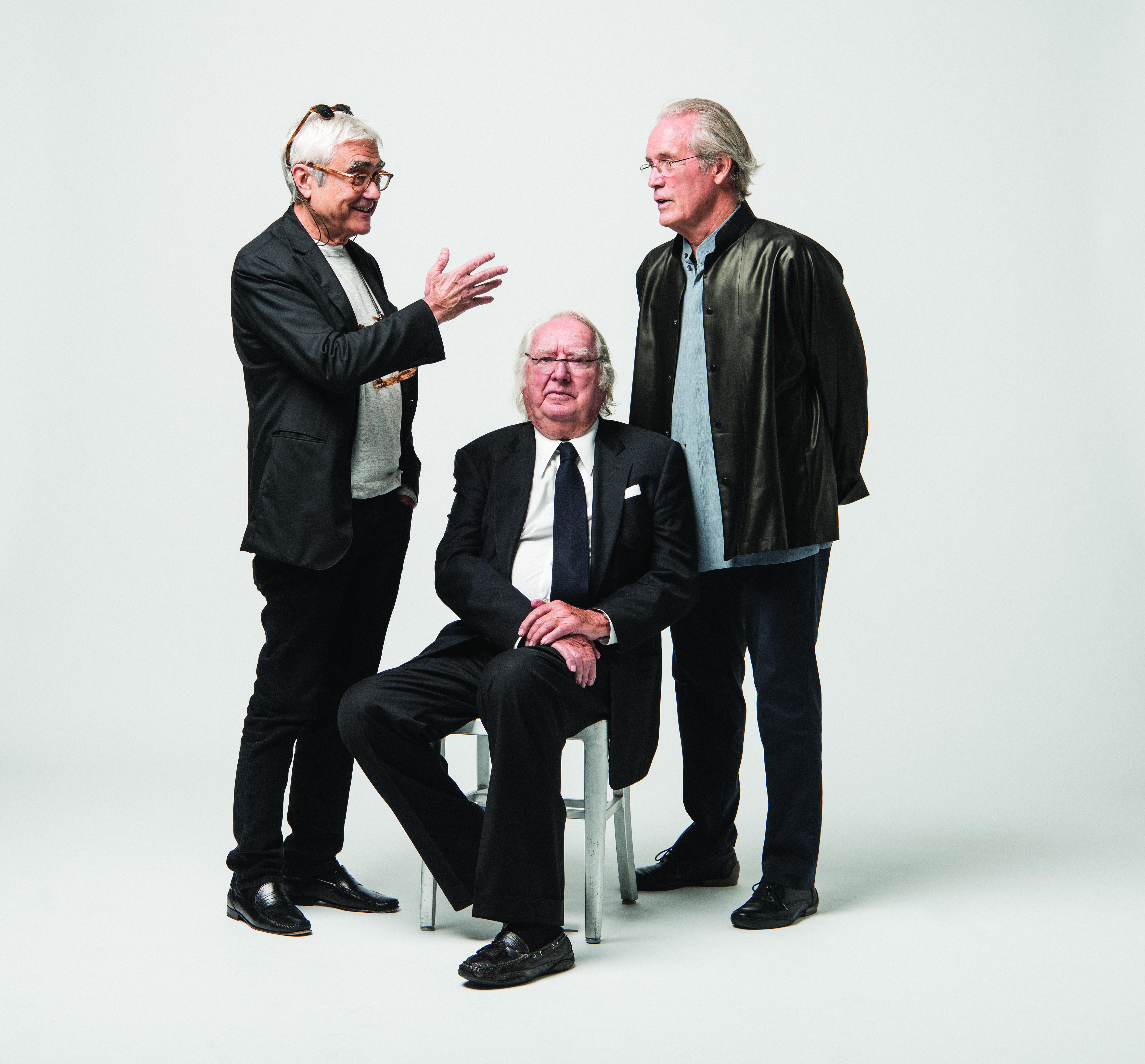 Starchitects Rafael Viñoly (left), Richard Meier (center) and William Pedersen are leading the design