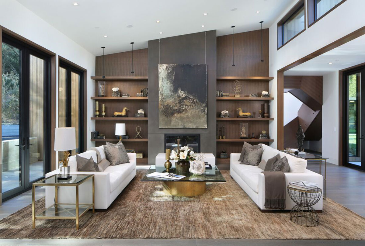 As shown in this project by Meridith Baer Home, a custom-made white sofa fades into the background so