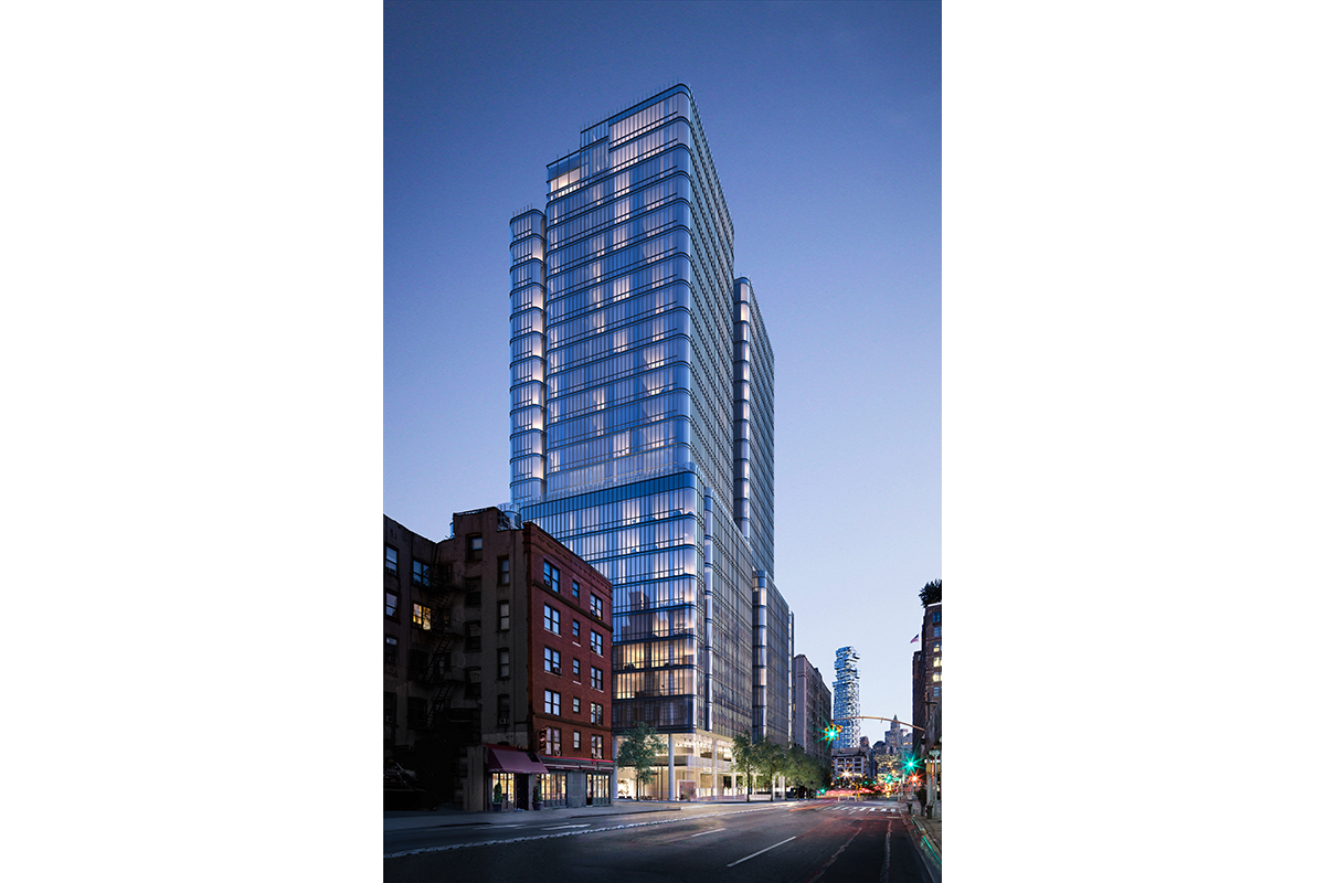 The 30-story building will have curved corners to maximize views of the Hudson River.