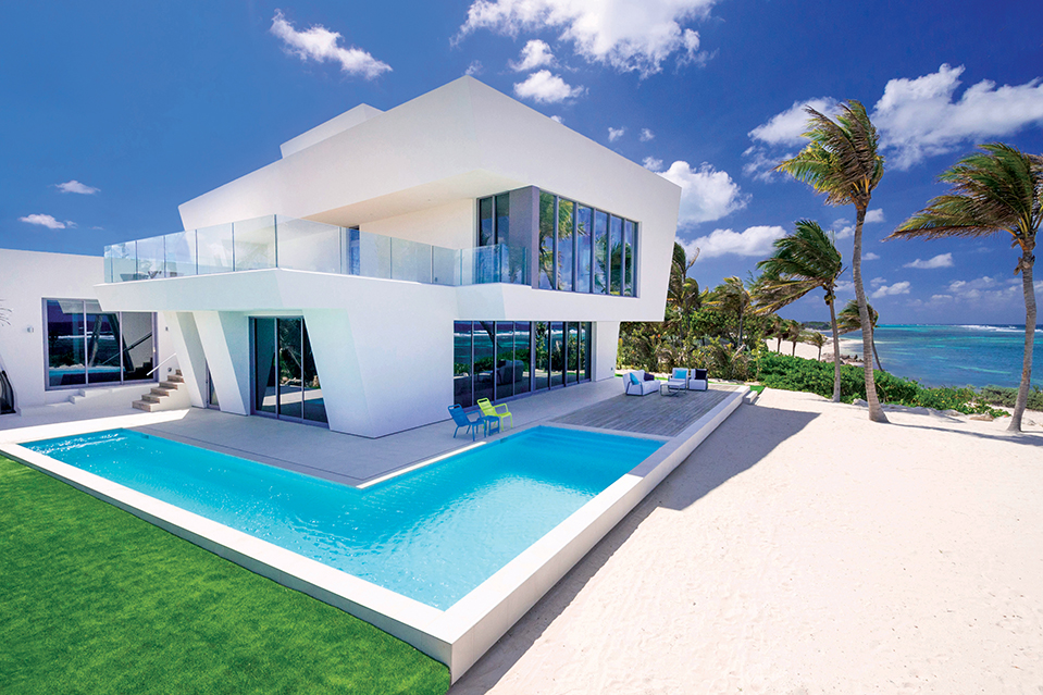 listing of the day cayman island contemporary mansion