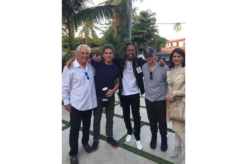 Hip-hop artist Future (center) filmed a music video at Christian de Berdouare's (far left) home in Mi