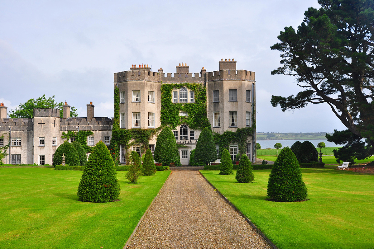 Glin Castle, a mansion overlooking the Shannon estuary in Ireland, has belonged to the same family fo