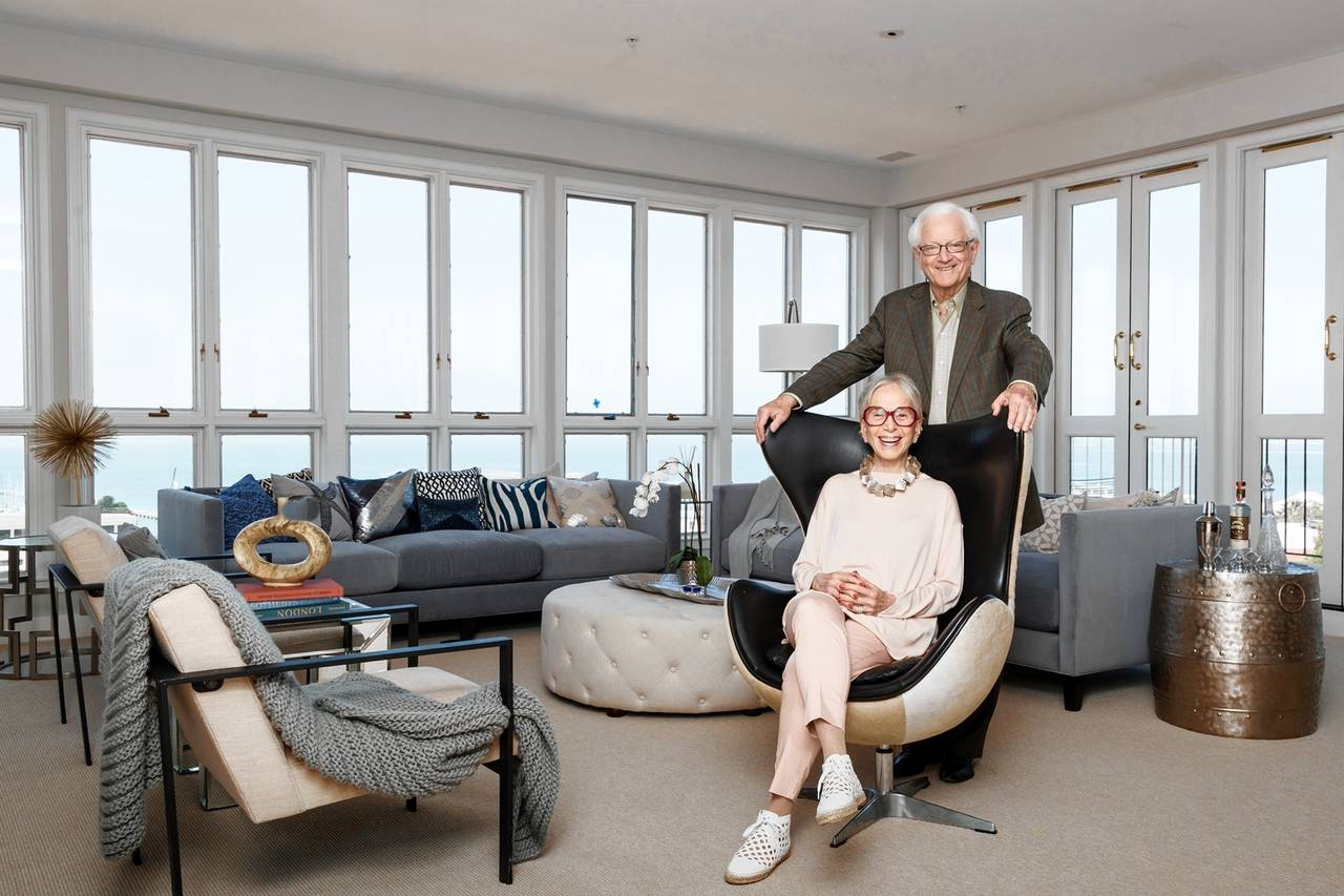 Martin Brotman and his wife, Farron, above, in their apartment on San Francisco's Telegraph Hill. The