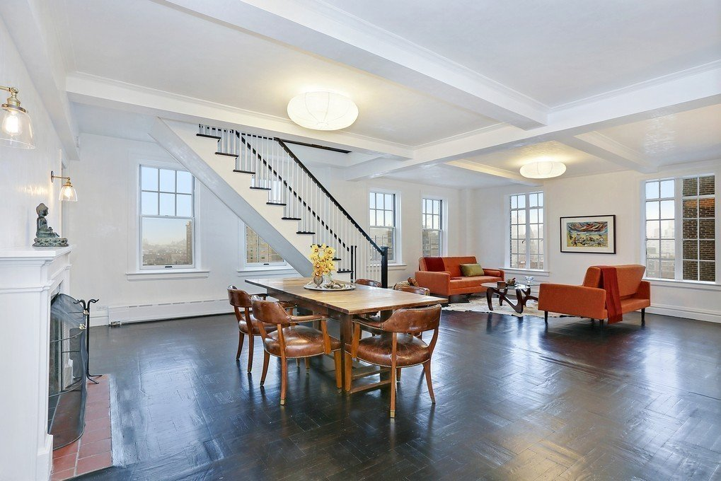 Seth Meyers' new duplex in a Greenwich Village co-op