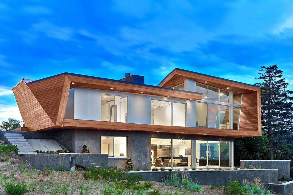 A modern home in cape cod inspired by the founder of the for Modern cape cod house