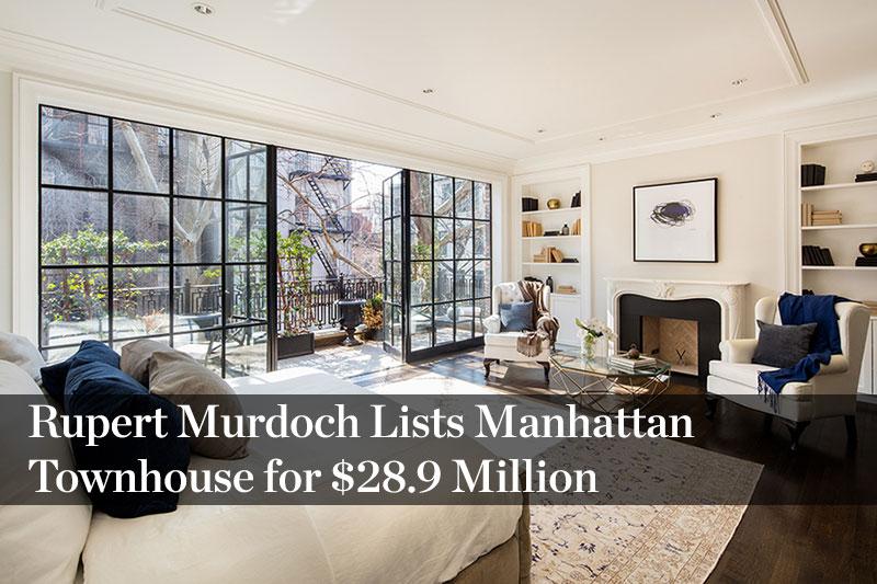 Rupert Murdoch Lists Manhattan Townhouse for $28.9 Million
