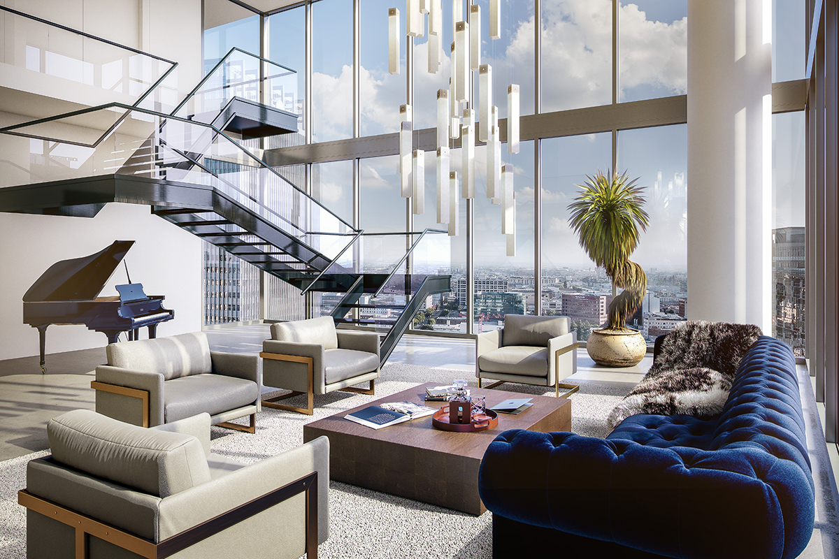 One of the first penthouses to be built in downtown los for Penthouses for sale los angeles