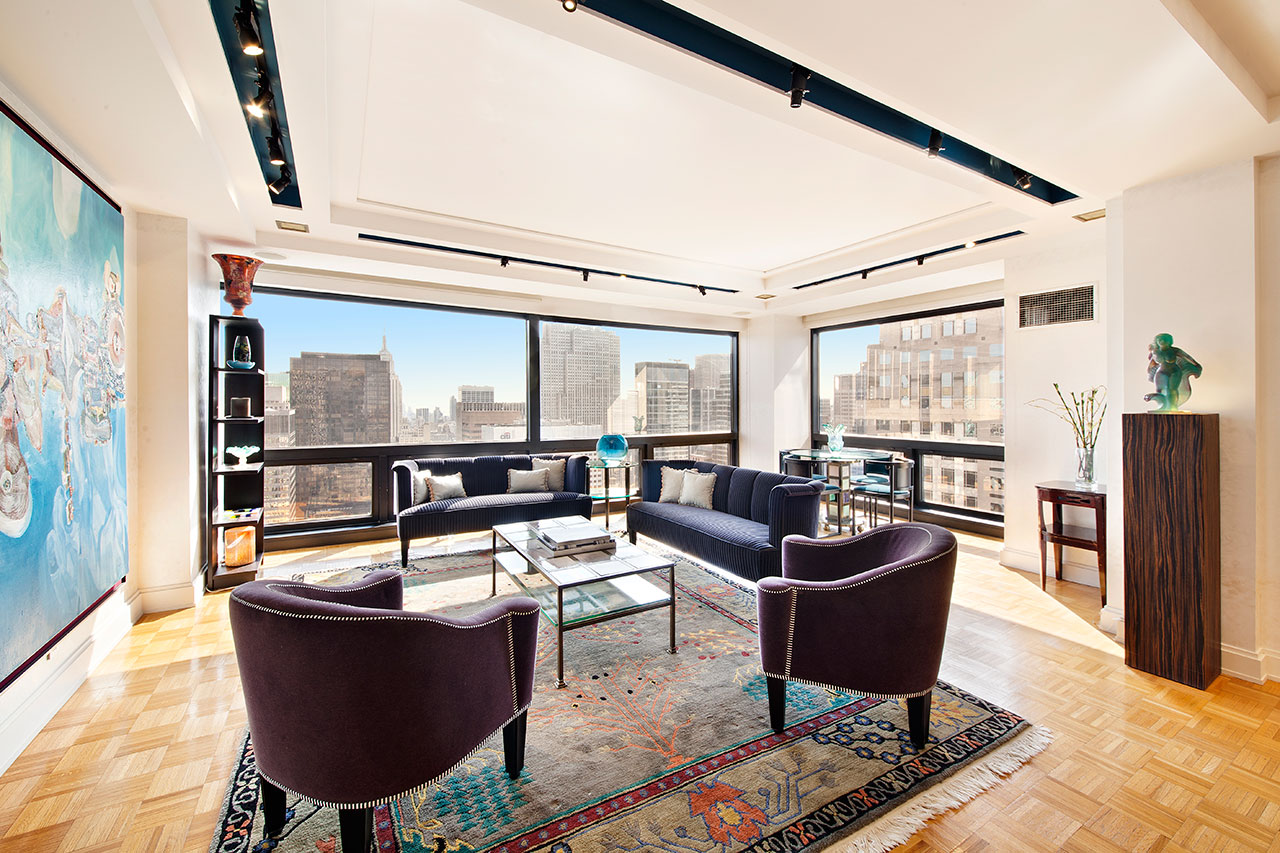 This two-bedroom condo at Trump Tower originally listed at $4,395 million was recently sold by Brett