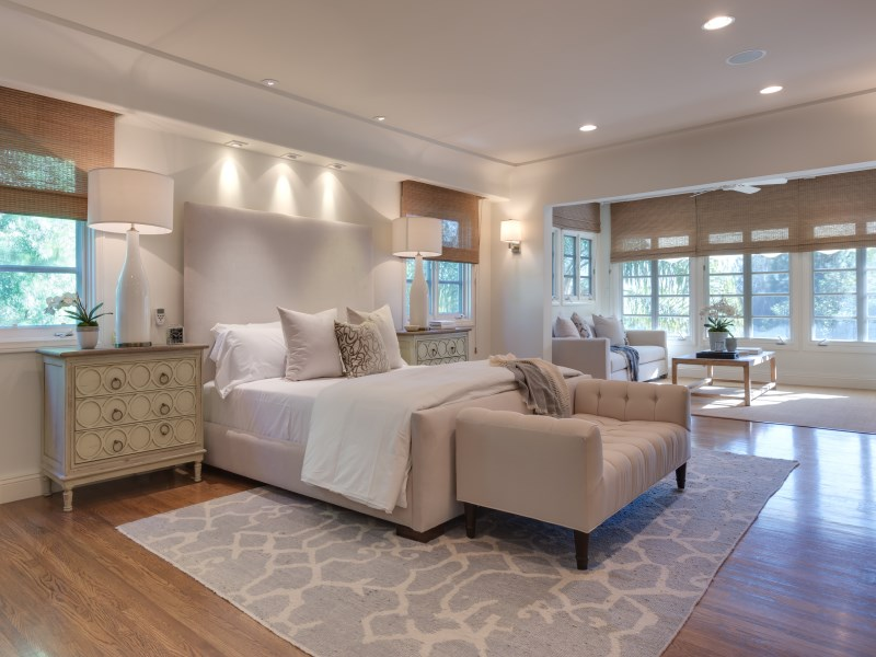 A master suite featuring fantastic natural lighting