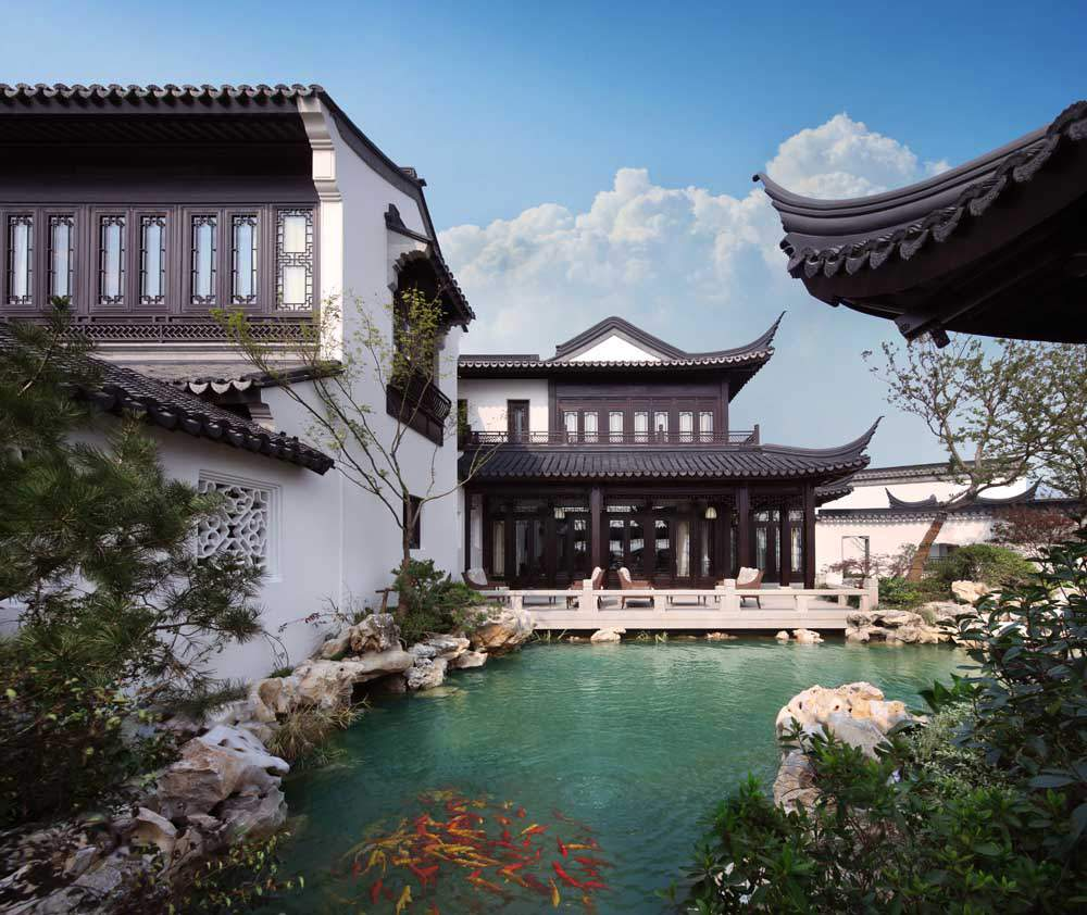 图为庭院一景。(图片来源:BEIJING SOTHEBY'S INTERNATIONAL REALTY)