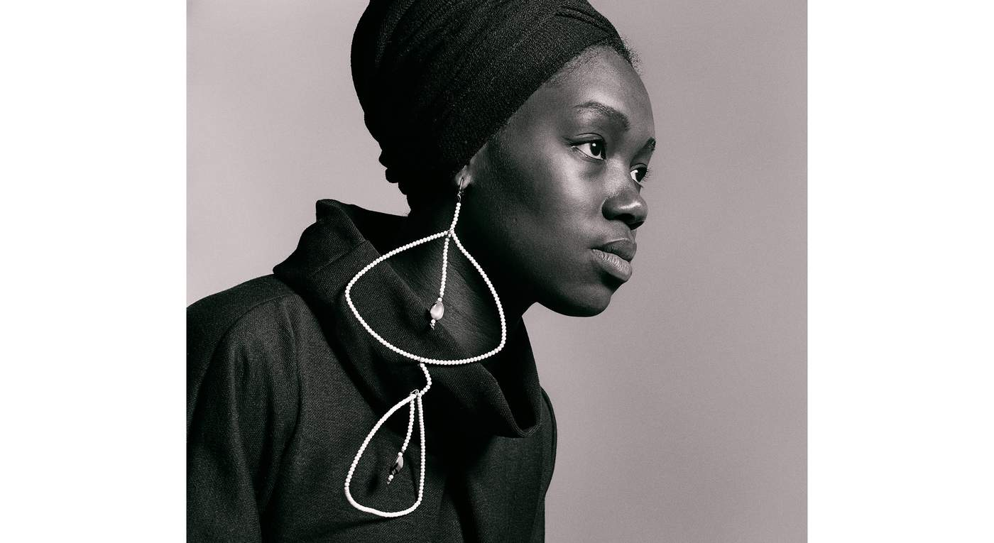(Untitled) Nomsa With Earrings by Kwame Brathwaite