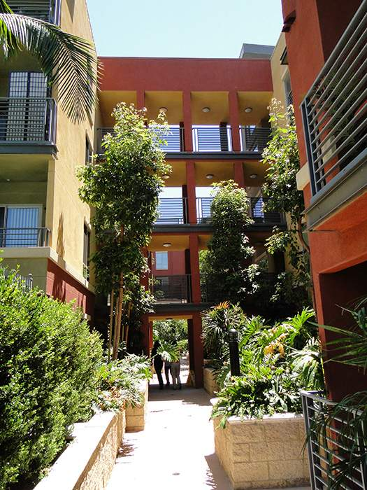 图为沈安妮在洛杉矶市中心投资购买的公寓楼。(图片来源:沈安妮)