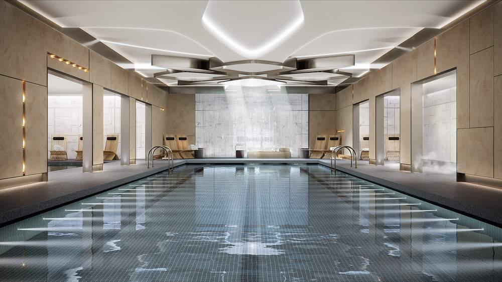 Luxury meets lap pool at Waterline Square(photo: Noe and Associates with The Boundary)