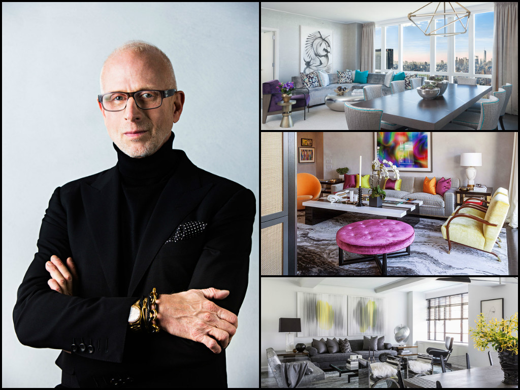 Composite(from top right): The Manhattan View at MiMA interiors;  a West Chelsea residence designed by Drake/Anderson; a Greenwich Village residence designed by Drake/Anderson