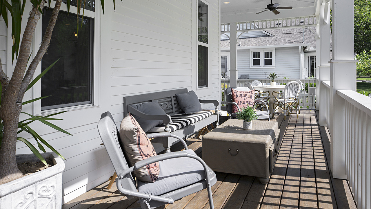 Cozy Furniture, Designated Zones, And Personalized Touches Make This Porch  A Prized Place.
