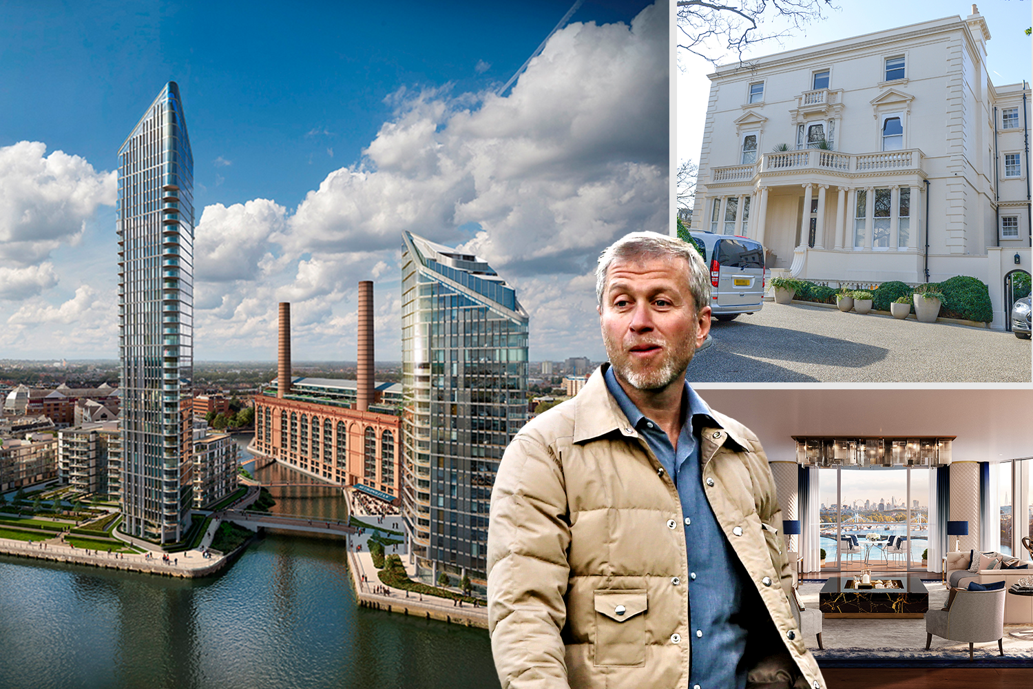Roman Abramovich is fitting out the penthouse, despite his visa problems. He bought a mansion in Kensington Palace Gardens in 2011