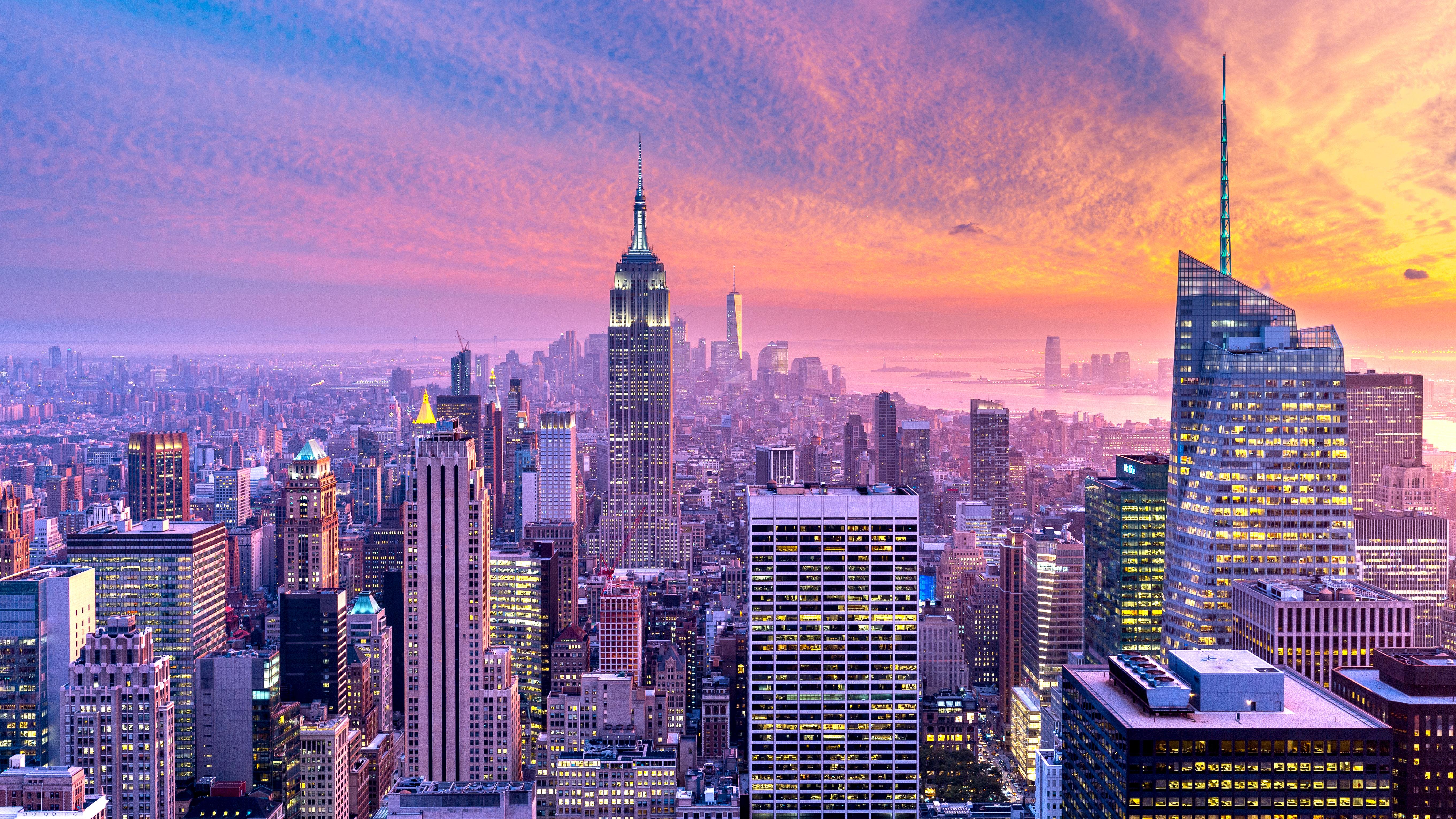 Vista de Manhattan al atardecer