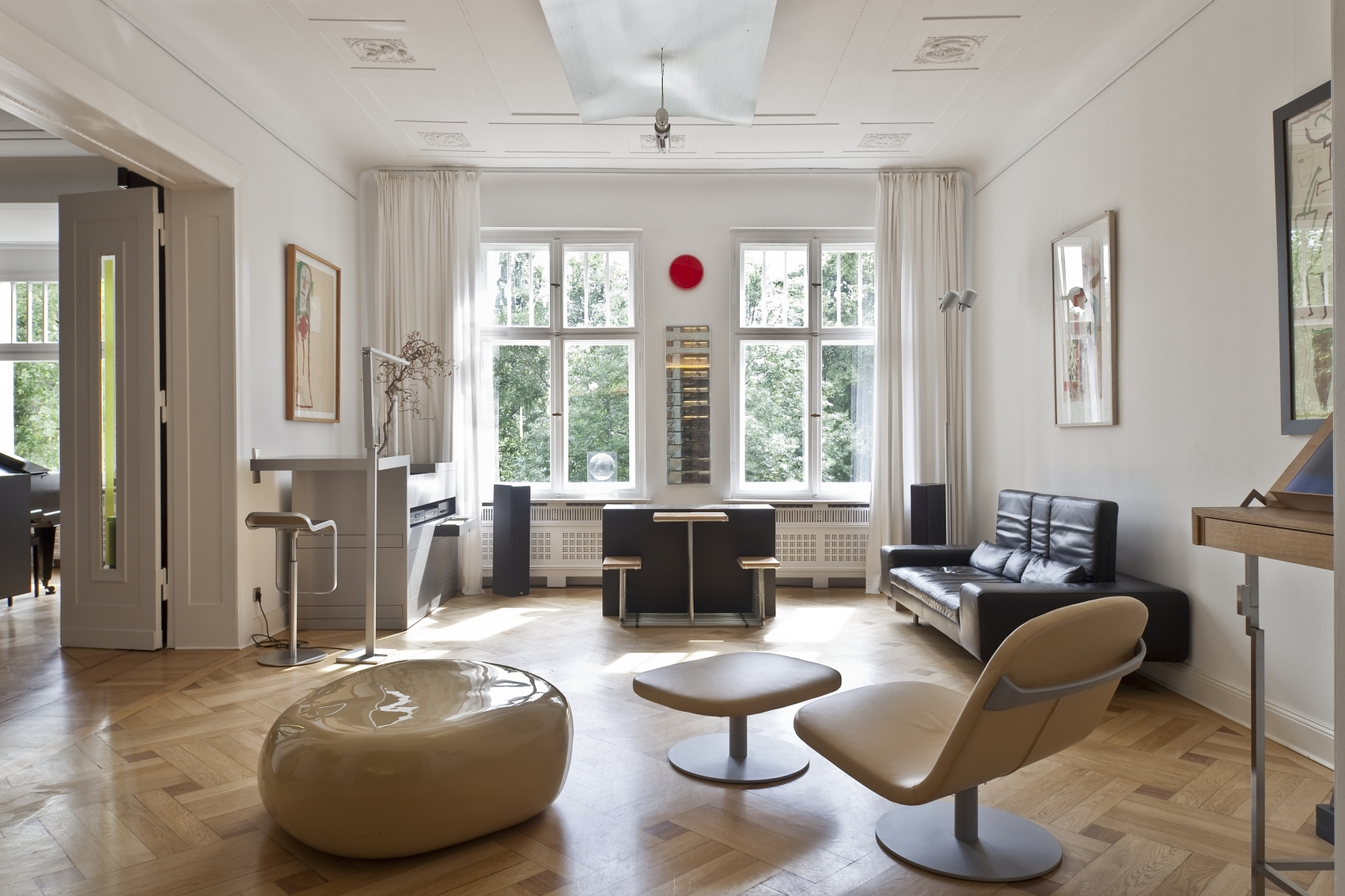 This four-bedroom apartment in Berlin is on the market for €2.76 million ($3.12 million). It features