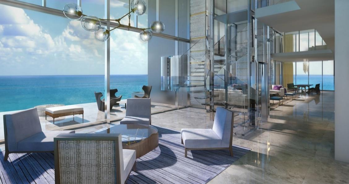 图为迈阿密现代风格的无敌海景屋。(图片来源:ONE SOTHEBY'S INTERNATIONAL REALTY)