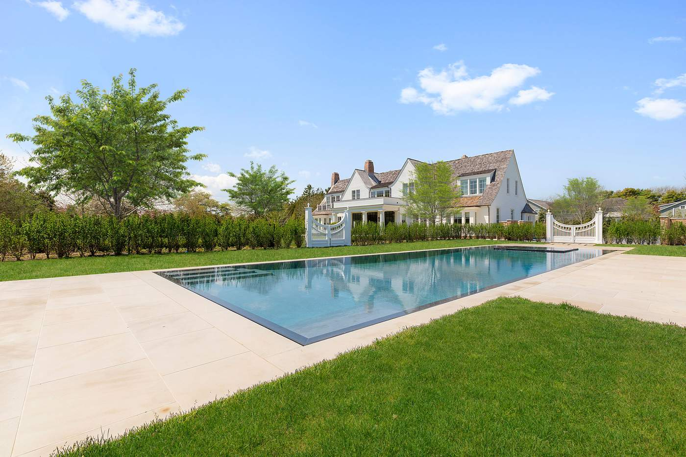 490 Hedges Lane, Sagaponack$19.75 millionWithin minutes of several eateries, this 2016 manion has seven bedrooms and eight full bathrooms, plus five additional half bathrooms. It's set on 2.3 acres, and was designed by James Michael Howard and won a Stanford White Award in 2017. It has an expansive great room with wooden beams, a state-of-the-art kitchen with a La Cornue range, a master suite with a private balcony, a fitness center with a massage room and a recreation room with a separate kitchen. The landscaped ground feature a pool, pool house, and sunken tennis court.