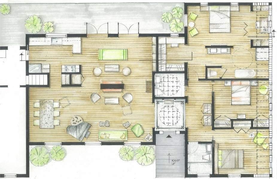 家具平面布置图。(图片来源:徐红)