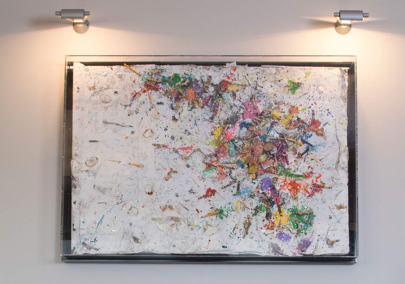"3.      ""Mars Attacks,"" Greg Haberny, melted crayons, matches, plastic toys, pencils, dirt, and ash on paper, mounted on wood and plexi box frame, 2014""I like to surround myself with artwork that makes me happy and gives me positive energy,"" Mr. Bahadir said. He bought this piece at Art Basel Miami from Catinca Tabacaru Gallery.  ""Before I purchase a painting, I research the artist, the exhibitions they've done, the museums they've gotten into, what direction are they going in. If I feel comfortable about the value and where it's at, I go ahead with the purchase. But I need to really feel like it belongs to me. Rather than it being a business, it should be pleasurable. Emerging artists, established artists, I like to have a balance between those,"" he said."