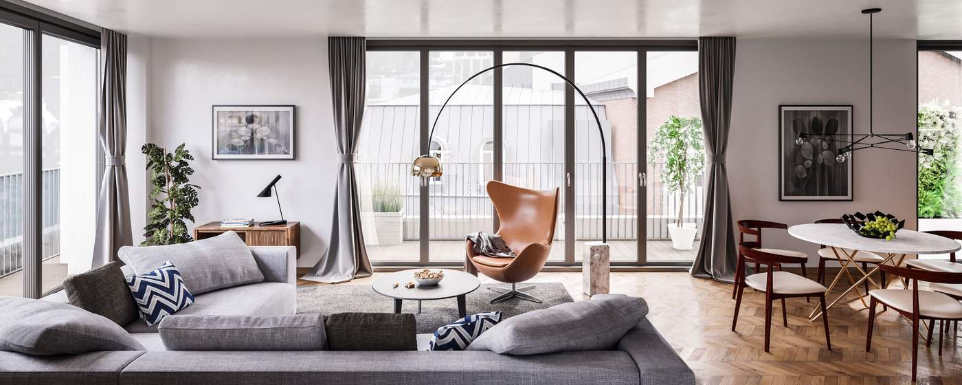 London s new apartments mix old and new for Luxury real estate london