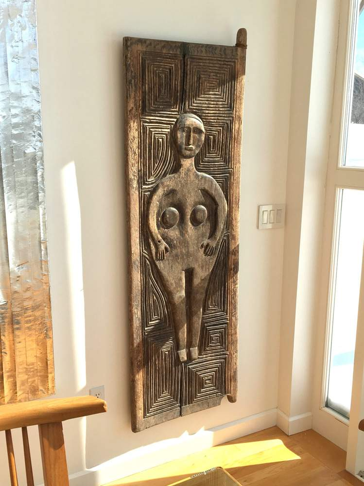 A zoomorphic door that is part of Charles Lindsay's collection