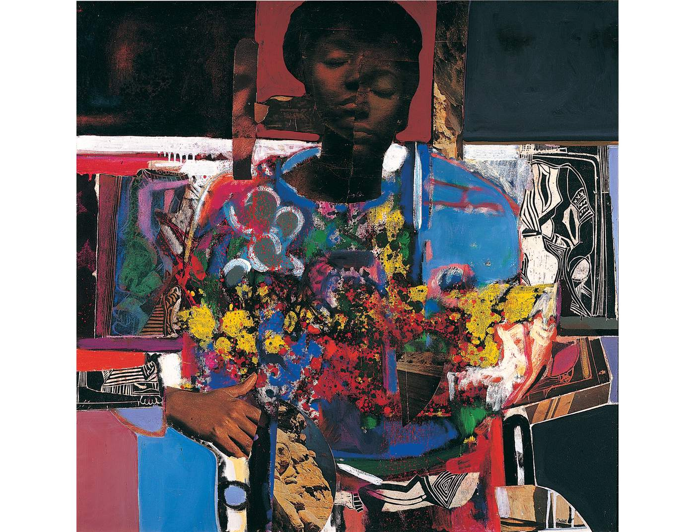 Woman with Flowers by David Driskell