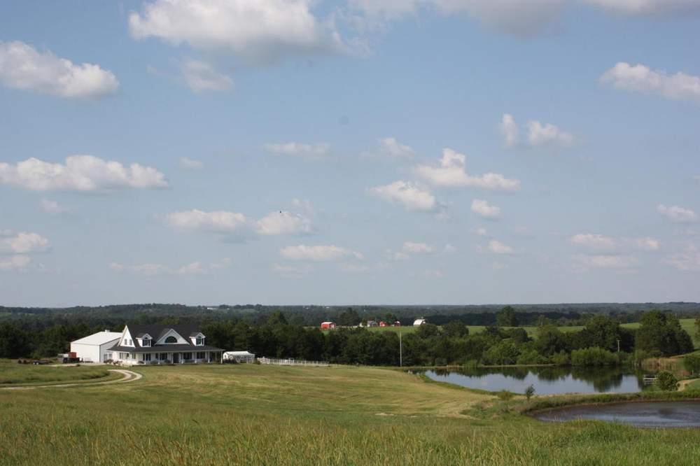 根据经纪人介绍,农场占地160英亩,上有三处泉眼,五个池塘,以及终年流淌的小溪。(图片来源:Patricia Maddux)