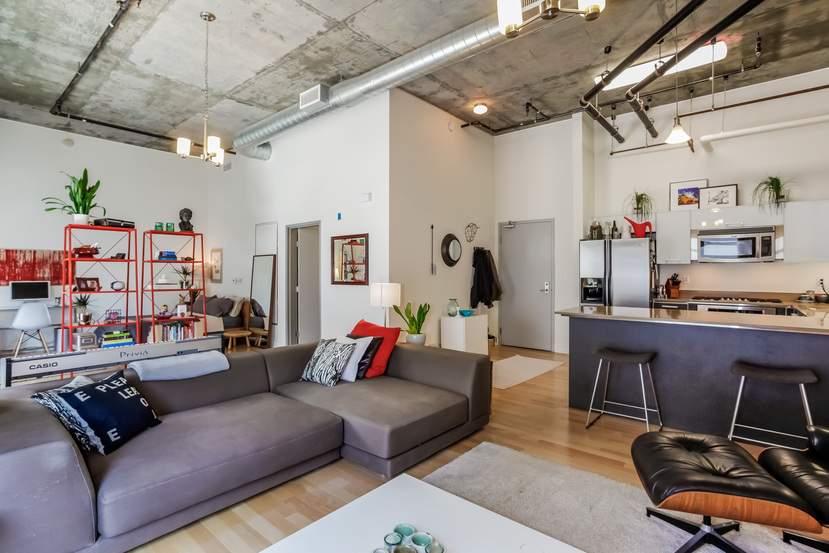公寓起居区。(图片来源:Agnes Ferreyra)