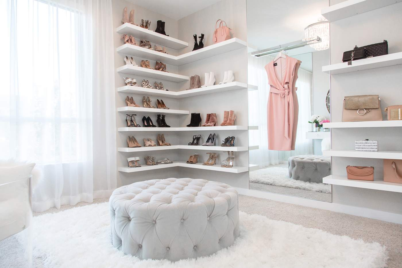 This Walk In Closet Designed By Lisa Adams Of LA Closet Design Features A  Chic Staging Area Thatu0027s Social Media Ready. Photography Courtesy Of LA  Closet ...
